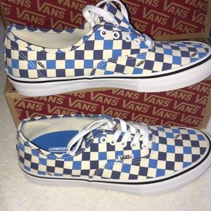 💟VANS AUTHENTIC PRO CHECKERBOARD CLASSIC BLUE NEW